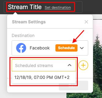 Schedule broadcast studio2